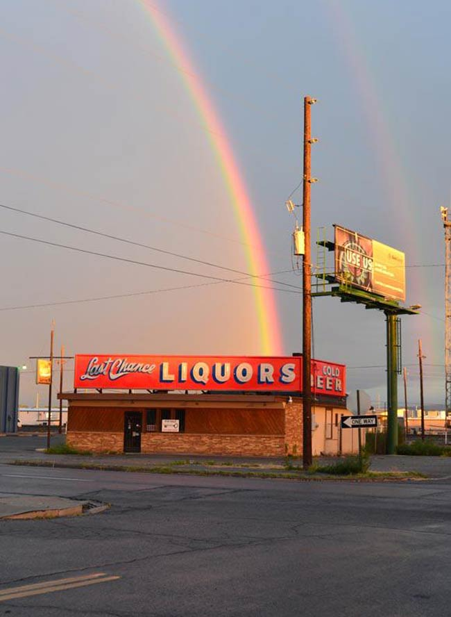 I found a pot of Goldschläger at the end of the rainbow