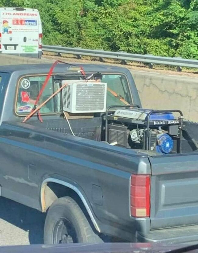 An outstanding display of redneck engineering