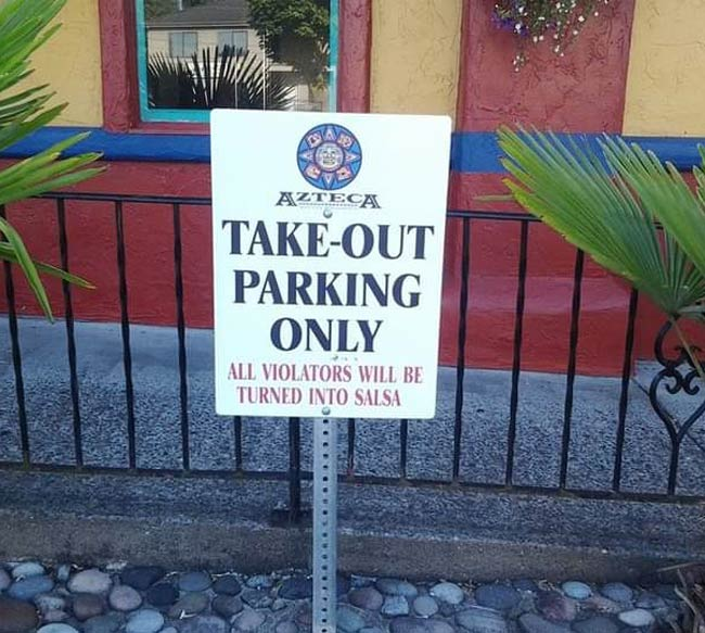 Sign outside a local Mexican joint