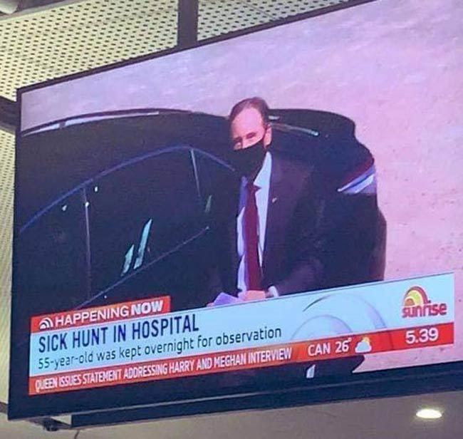 Australia's federal health minister has been admitted to hospital. The Australian media didn't waste the wordplay opportunity