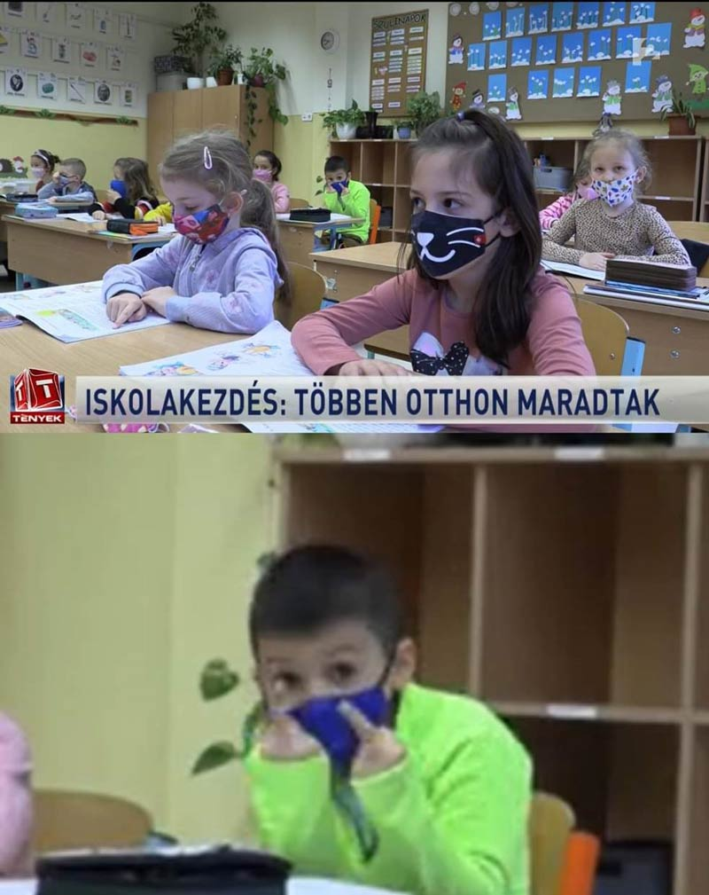 Hungarian news channel was talking about schools reopening